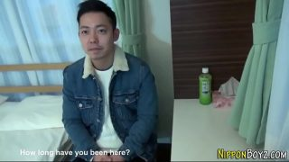 Gay asian jerking off and getting stroked